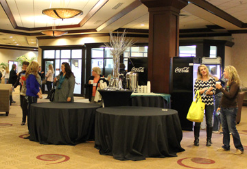 photo of Participants in the lobby before the conference